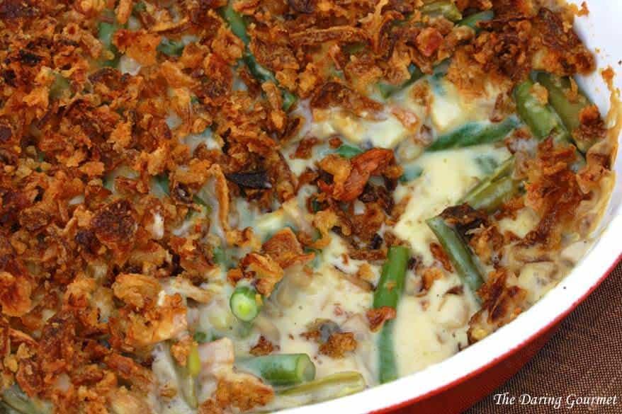 best green bean casserole recipe from scratch ultimate bacon cheddar cheese mushrooms cream