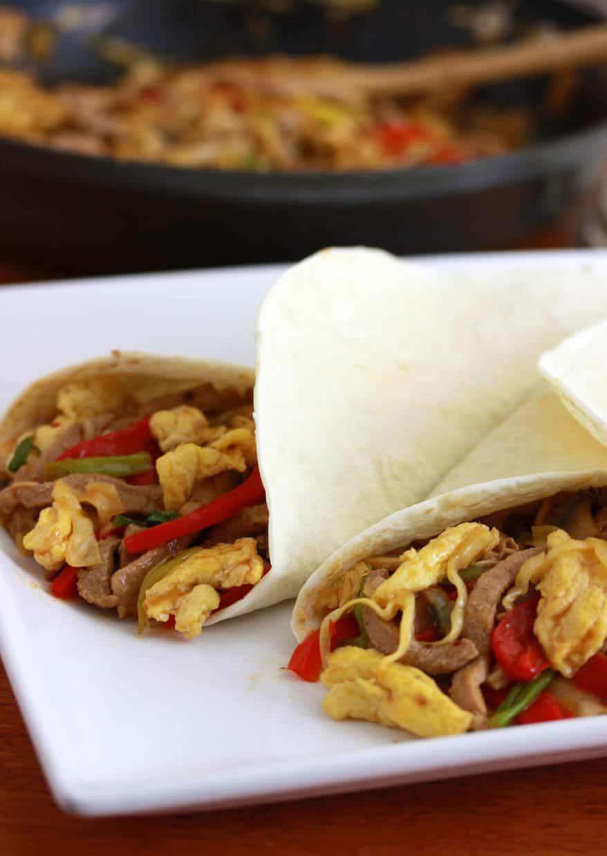 Mu Shu Pork Wraps The Daring Gourmet