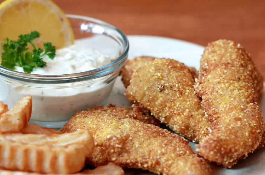 Cajun Catfish and Chips with Homemade Tartar Sauce