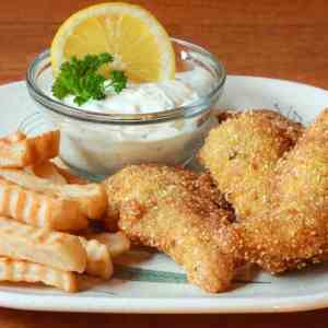 Cajun catfish and chips recipe battered fried french fries Southern