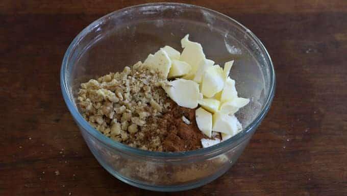 Chocolate Butterscotch Pumpkin Streusel Cake prep 7