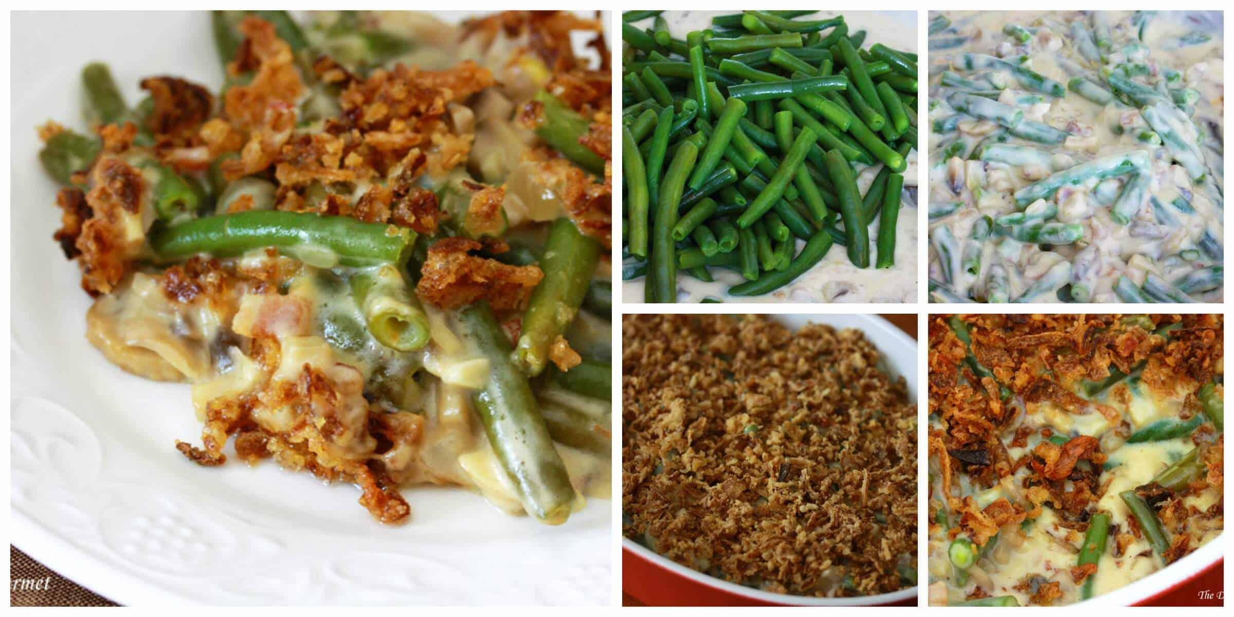 best green bean casserole recipe from scratch mushrooms bacon cheese cream
