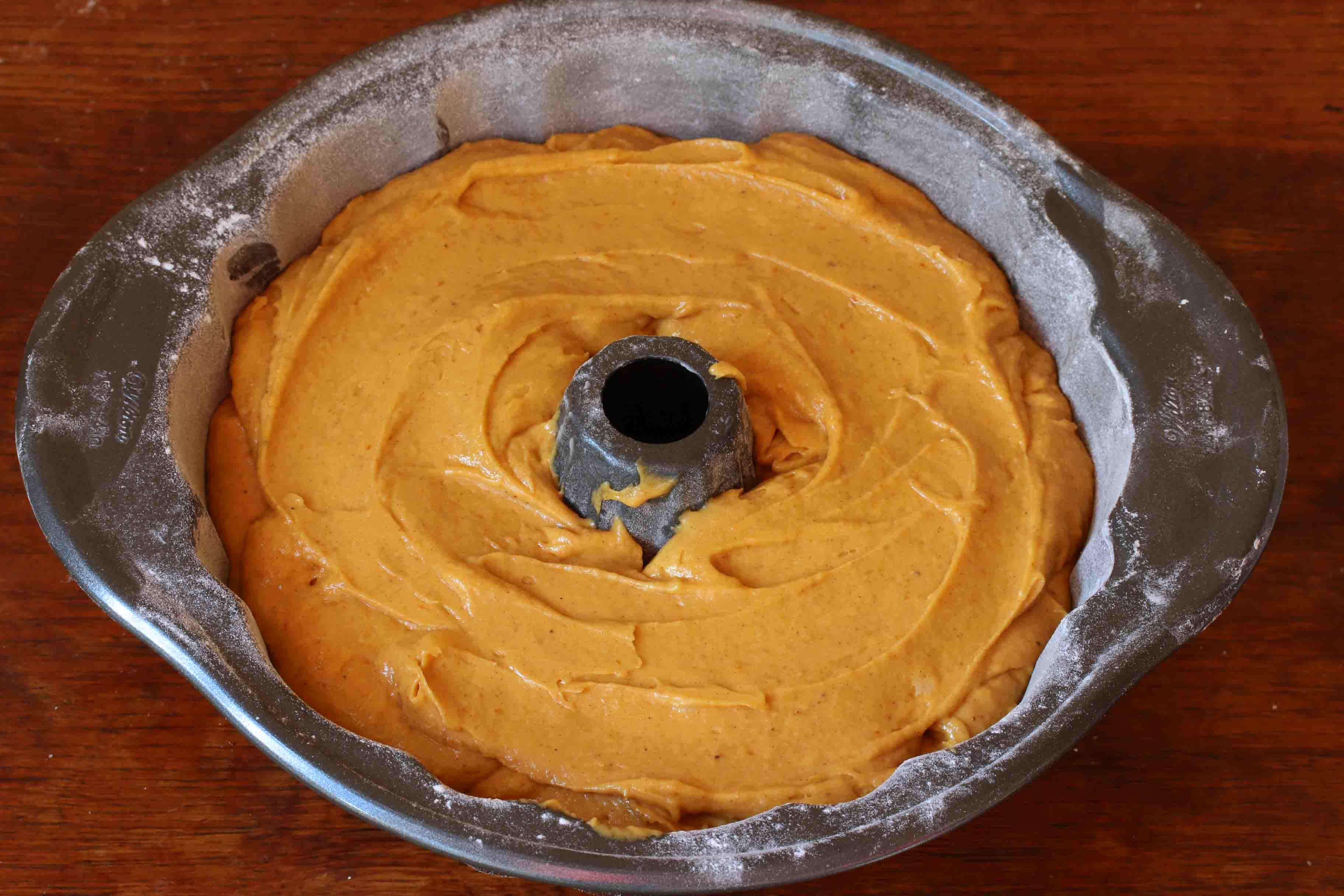 Pumpkin Eggnog Cake prep 13