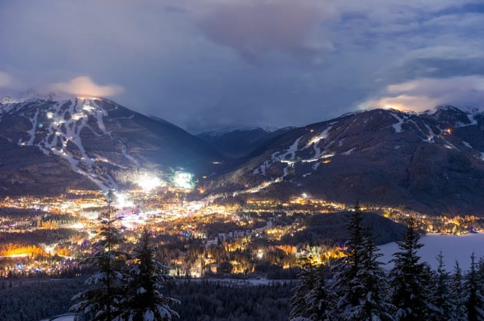 Whistler Blackcomb at Dusk