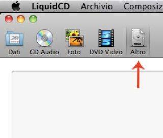Il tasto altro consente di masterizzare immagini e file cue