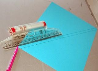 Righello foglio matita