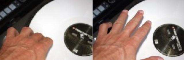 Bending appoggiando un dito sul vinile