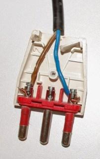 spina elettrica montata
