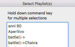 scegli Playlist
