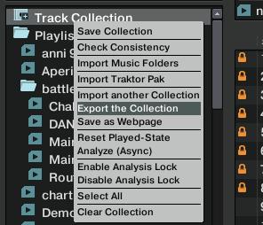 Export Collections Traktor