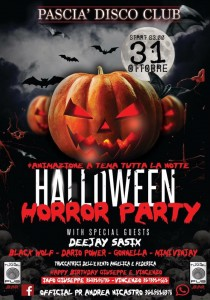 Halloween Horror Party - Pascià Disco Club