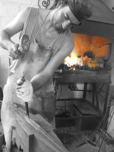 At the forge