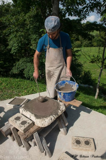 14. Liquid clay is poured on dry plaster and the excess of water is absorbed from the clay