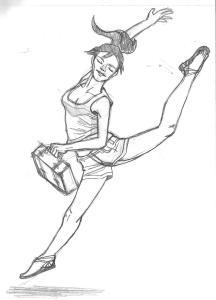 entrainement ballerina sketchbook