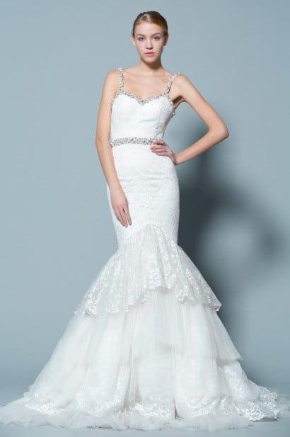 Fitted Lace Wedding Dresses W Straps Darius Cordell Fashion Ltd