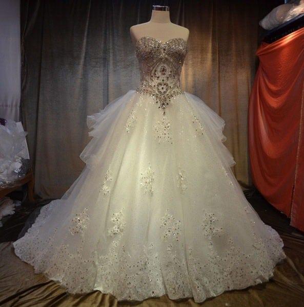 Used Designer Wedding Gowns: Designer Wedding Gowns W/ Swarovski Crystals