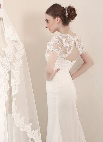 27f3500edb Sheath Bridal Gowns with Shrug jackets - Darius Cordell Fashion Ltd