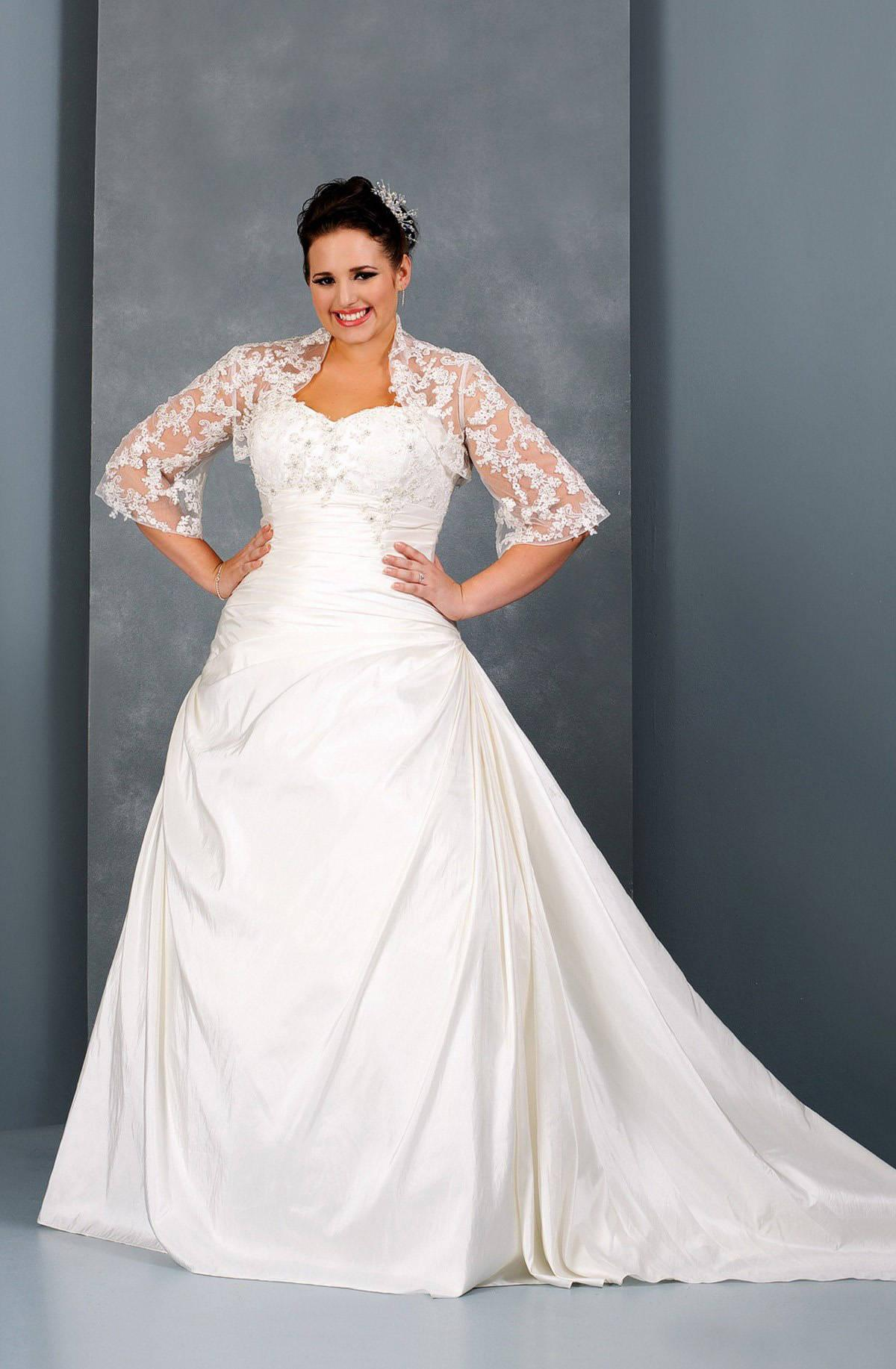 Long Sleeve Plus Size Wedding Gown by Darius Bridal