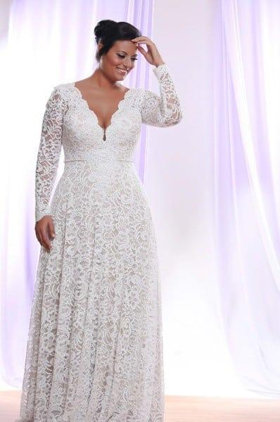 08da06dcb0896 Plus size wedding dresses with Long sleeves from Darius Cordell
