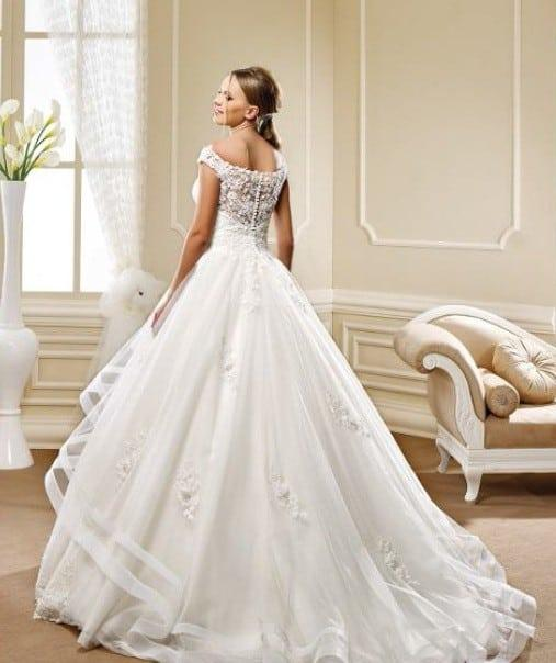 Style 5471 Ball Gown Wedding Dress With Sheer Illusion