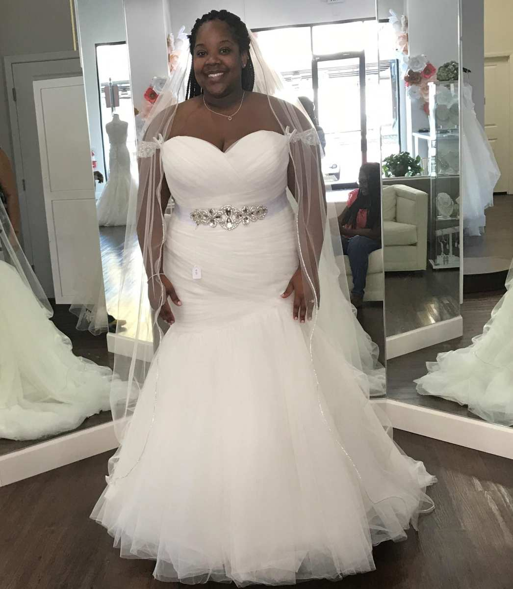 Strapless Plus Size Fit-n-Flare Wedding Dress from Darius Bridal