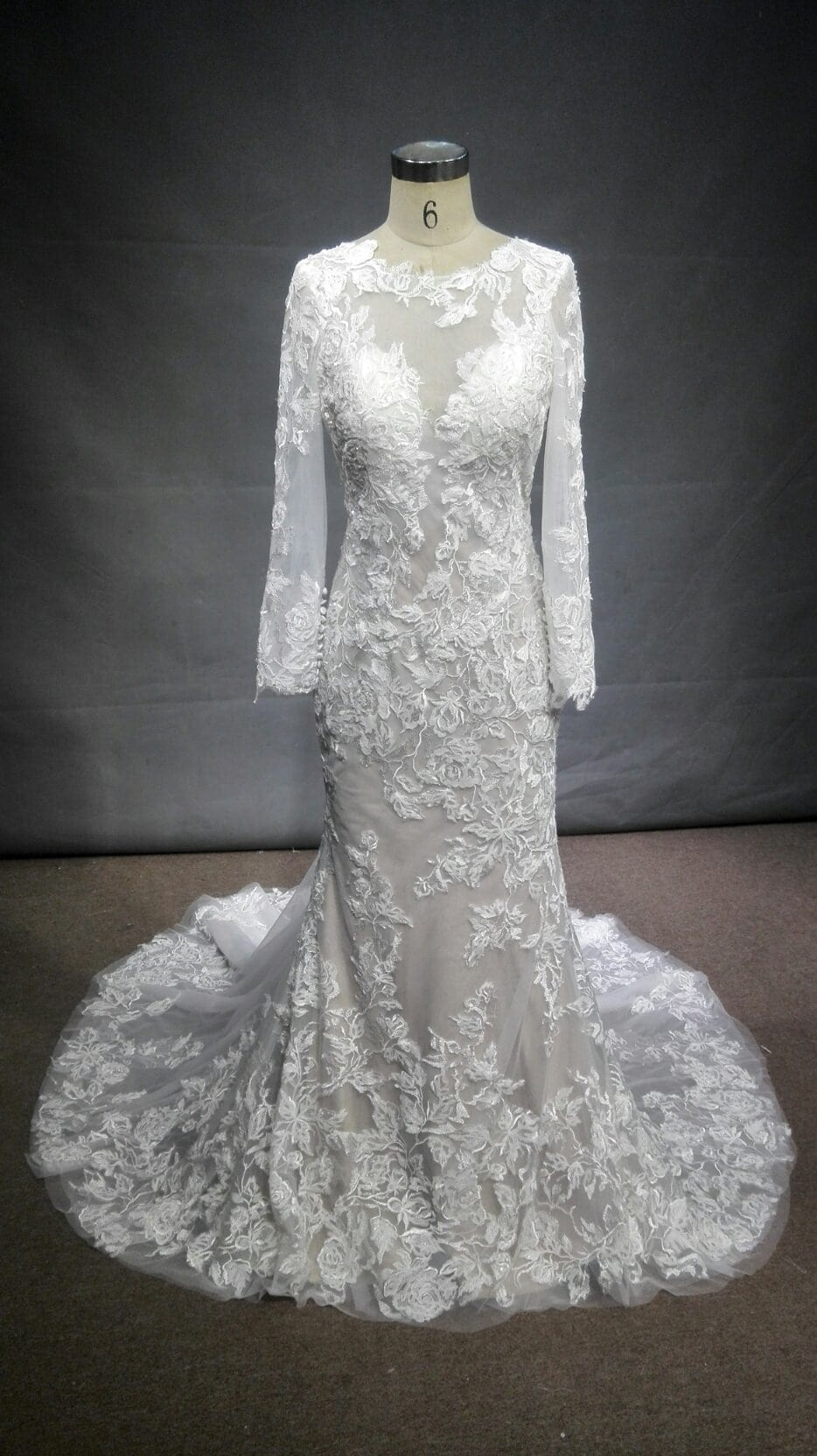 b4b1765100670 Long sleeve lace wedding gown inspired by a Berta Bridal design