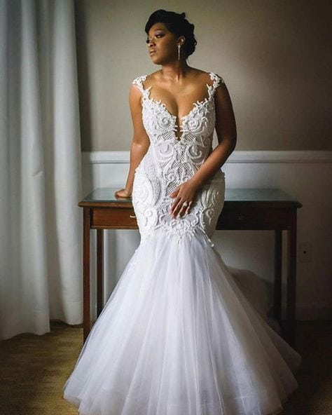 Fit-and-flare plus size wedding dresses – DARIUS CORDELL