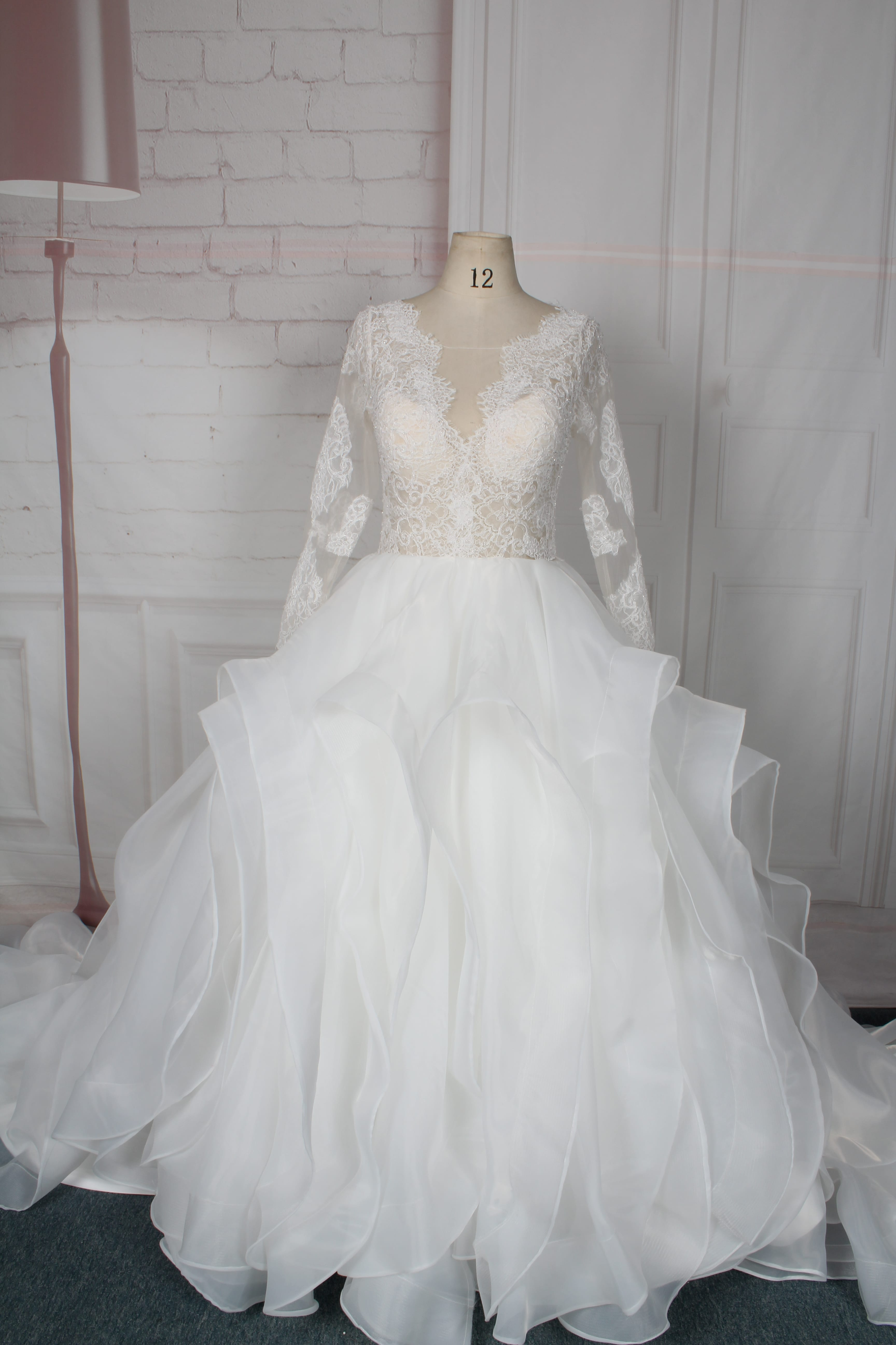 96d556ae972 30 Gorgeous Lace Sleeve Wedding Dresses - Bridal Musings