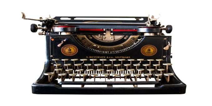 TYPEWRITER, WRITING, PROCESS