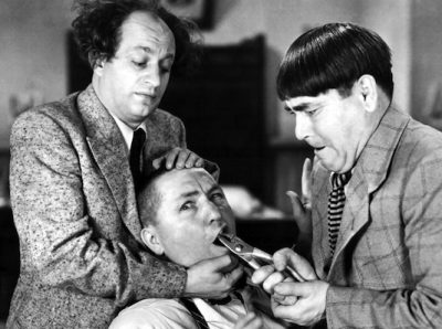 THREE STOOGES, BOOK MARKETING, DENTISTRY, COMEDY