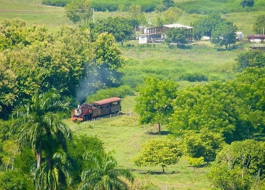 TRAIN, LANDSCAPE, TRINIDAD, MYCROFT HOLMES, BOOK IMAGE