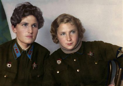 KATYA BUDANOVA, LIDYA LITVYAK, SOVIET WOMEN FIGHTER PILOTS, WW2