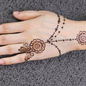 easy mehndi design for hand