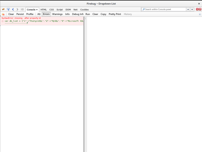 JQuery Error Message missing: after property id