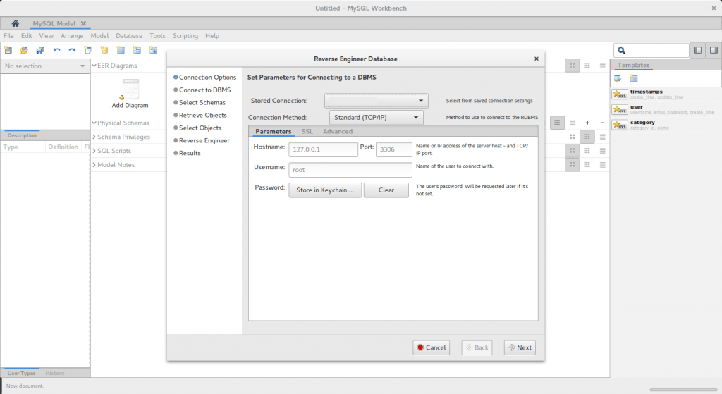 how to generate er diagram from existing mysql database just rh dark hamster com create er diagram from existing database mysql workbench Tables with Database ER-Diagram University