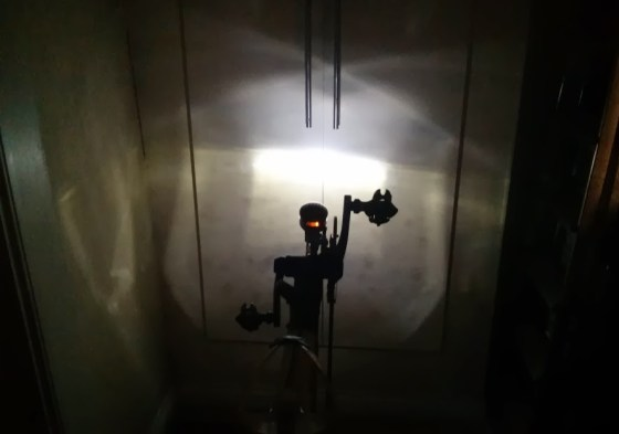 Luxos beam picture, courtesy of my boiler cabinet. This is the standlight.