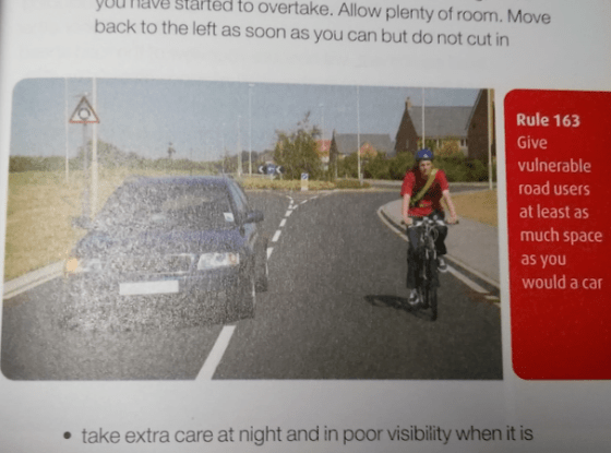 Photo inexpertly taken by me, from the Highway Code. Copyright Department for Transport, most likely.