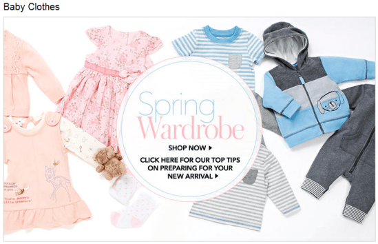 ASDA's baby clothing, which is either pink or blue.