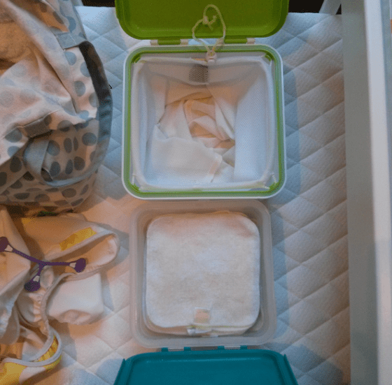 Top down view of the two boxes.