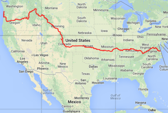The Trans Am route