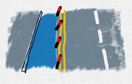 Demonstration cycle lane
