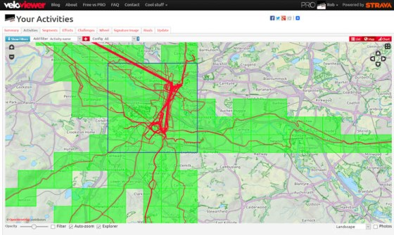 Screenshot of VeloViewer largest explorer grid square