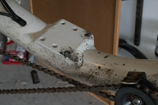 MetaBike seat mounting plate