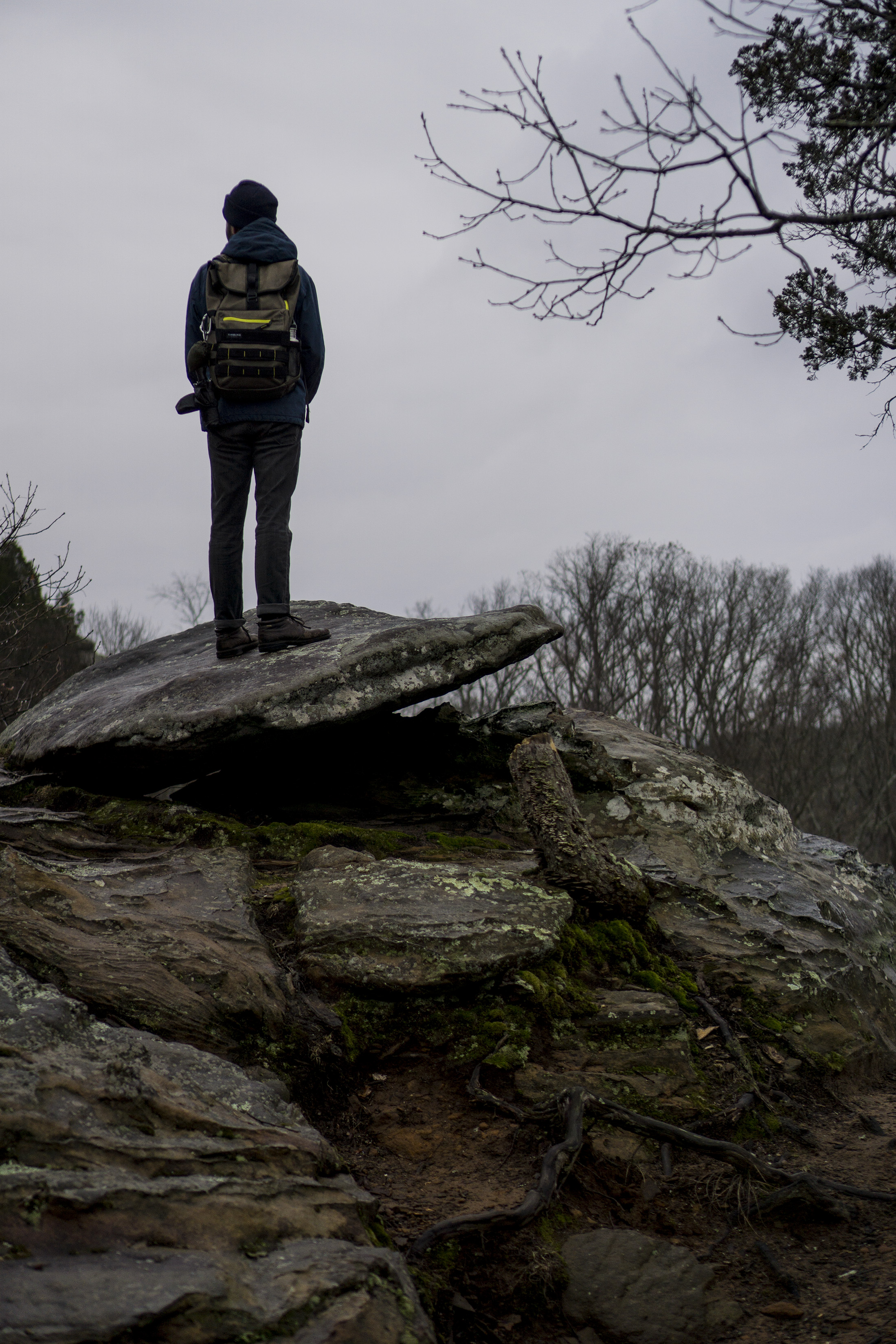 Standing on wet rock slabs, Garden of the Gods, Shawnee National Forest, IL / Darker than Green