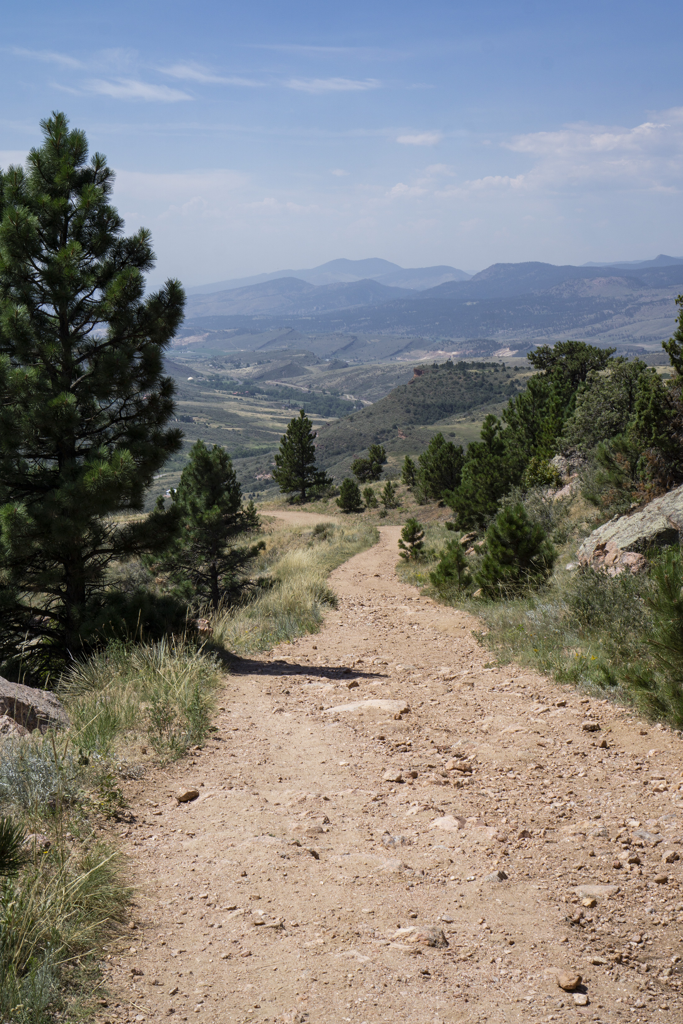View back down toward the Horsetooth Rock trailhead, Colorado / Darker than Green