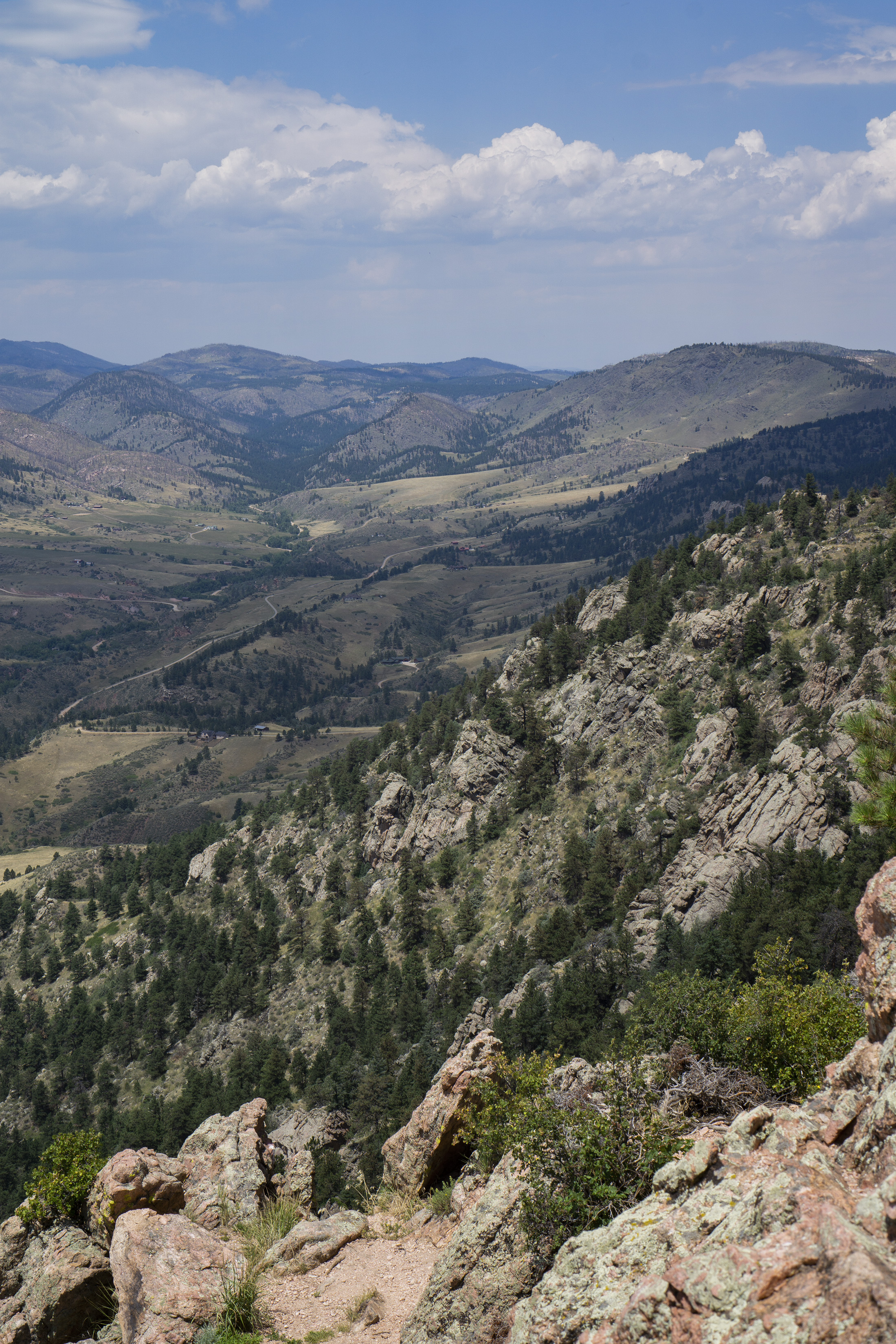View from top of Horsetooth Rock, Colorado / Darker than Green