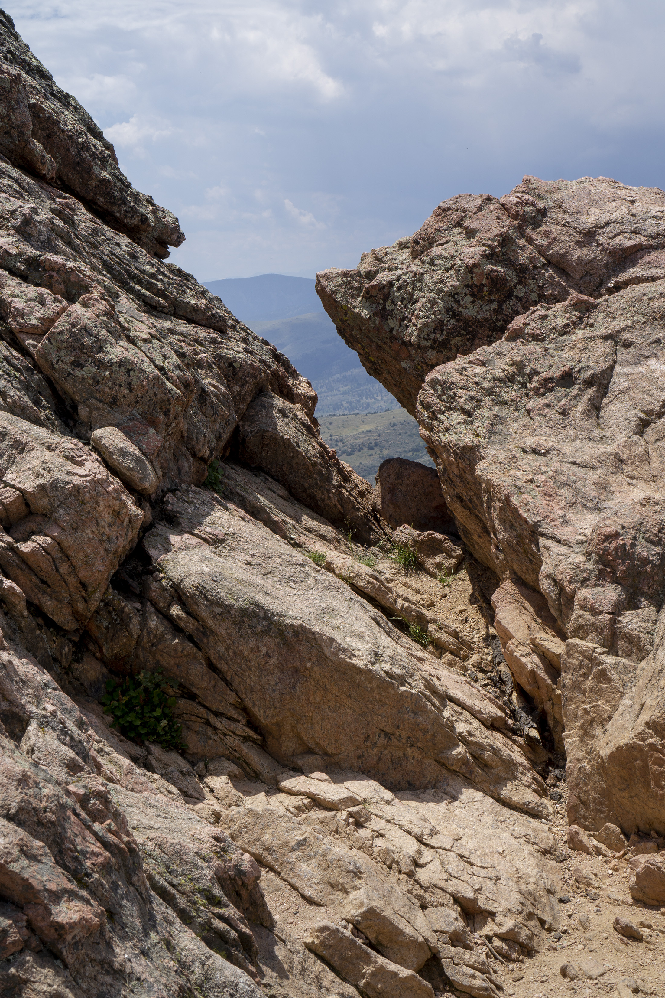 Angled rocks at top of Horsetooth Rock, Colorado / Darker than Green