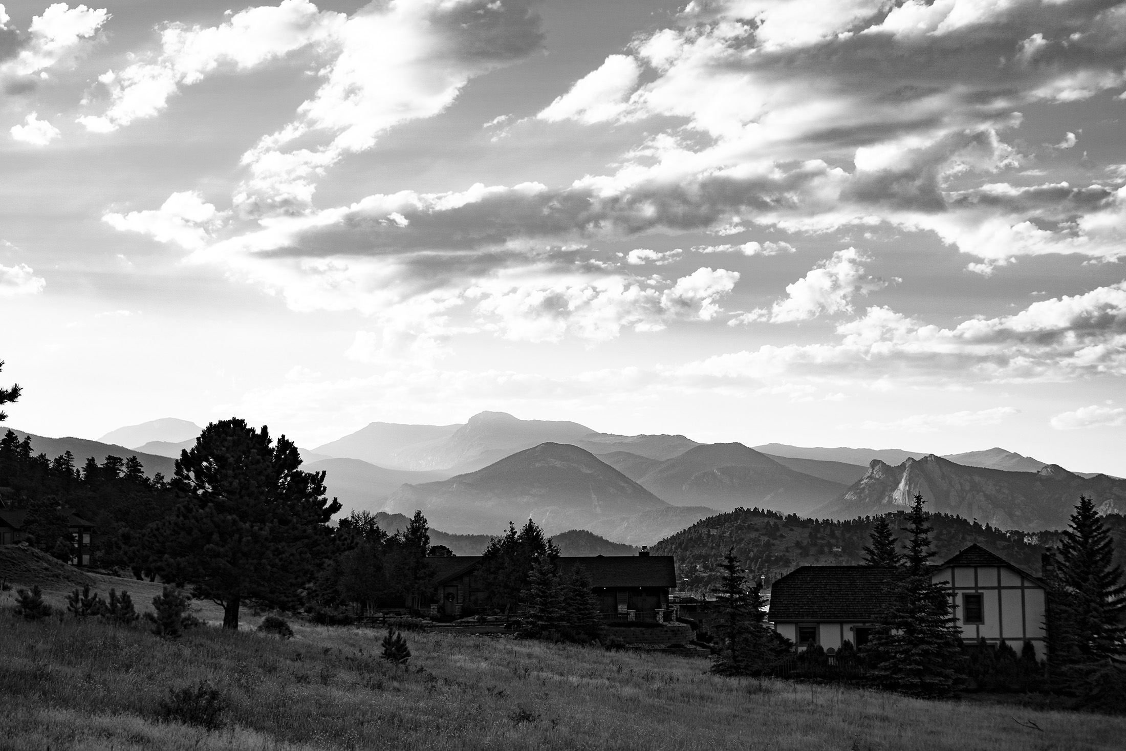 View of mountains near Meeker Park Overflow Campground, Colorado / Darker than Green