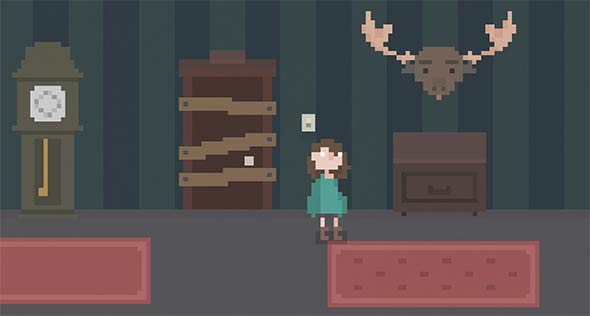 House Pixel Art Horror Game   DarkHorrorGames The game