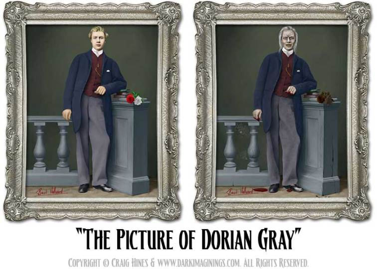 Dark Imaginings   The Picture of Dorian Gray  Haunted Changing Portrait The Picture of Dorian Gray